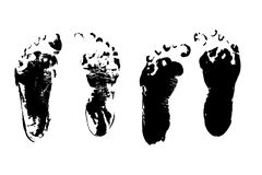 Child foot prints Royalty Free Stock Photography