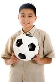 Child with a football ball Stock Photography