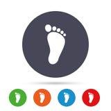 Child footprint sign icon. Barefoot . Stock Photos