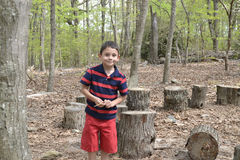 Child in the forest Stock Image