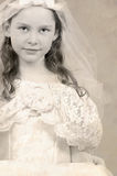 Child in formal gown Stock Image