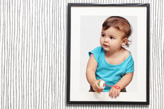 Child and frame Stock Images