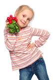Child with fresh vegetable Stock Photos