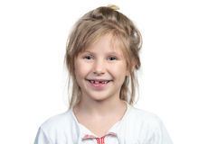 Child without a front tooth Royalty Free Stock Photo