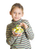 Child with a fruity Royalty Free Stock Photos
