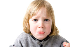 Child funny annoyed isolated Stock Photos