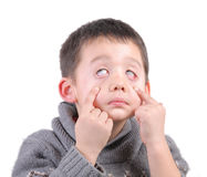 Child funny face Royalty Free Stock Images