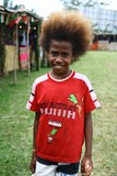 Child with funny hair in Vanuatu Stock Photos