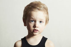 Child. Funny Little Boy. Handsome Boy with Blue Eyes Royalty Free Stock Images