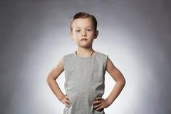 Child. Funny Little Boy.Sport Boy. fitness gym instructor Stock Photography