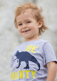 Child. Funny Little Boy. Sport Handsome Boy. Strong. Stock Photo