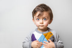 Child with funny look royalty free stock image