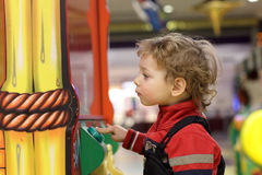 Child at game amusement park Stock Photography