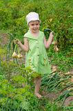 A child in the garden Stock Image
