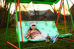 Child in garden. Royalty Free Stock Photos