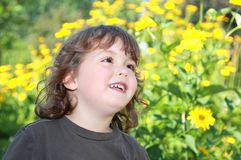 Child in a garden Stock Photography