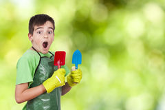 Child gardener Stock Photography