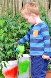 Child gardening Stock Photography