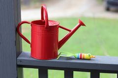 Child Gardening Tools royalty free stock images
