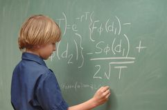 Child Genius Stock Image