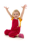 Child gestures. On white background Royalty Free Stock Image
