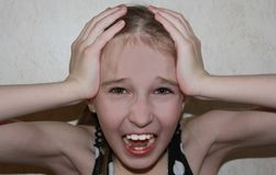 Child gets scared royalty free stock images