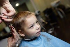 Child getting haircut Stock Photos