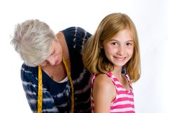 Child getting measured Stock Photography