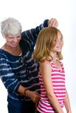 Child getting measured Royalty Free Stock Image