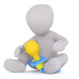 Child with giant dummy Stock Photos