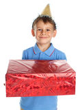Child with gift Royalty Free Stock Photo