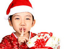 Child with gift Royalty Free Stock Photos