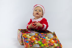 Child and gift Stock Images