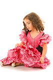 Child Girl. Cute Girl with typical spain dancer clothes royalty free stock photography