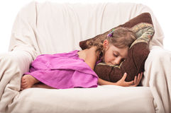 Beauty child girl sleep Royalty Free Stock Images
