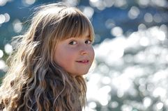 Child, Girl, Blond, Long Hair Royalty Free Stock Photos