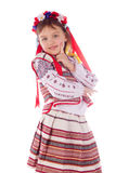 The child, a girl in a bright dress. Stock Photography