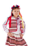 The child, a girl in a bright dress. Stock Image