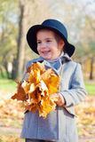 Child the girl in a coat Royalty Free Stock Image