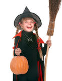 Child girl in costume Halloween witch Stock Image