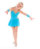 Child girl doing fitness exercises Royalty Free Stock Photography