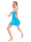 Child girl doing fitness exercises Stock Photography