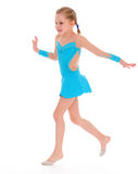 Child girl doing fitness exercises Royalty Free Stock Photos