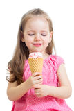 Child girl eating ice-cream Stock Photography