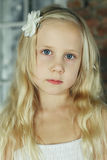 Child girl - face close-up Royalty Free Stock Photography
