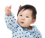 Child girl hand up Royalty Free Stock Images