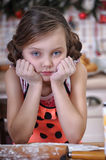Child girl in the kitchen Royalty Free Stock Photos