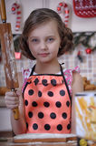 Child girl in the kitchen Royalty Free Stock Photography