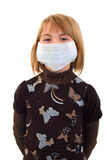 Child Girl In Medicine Mask. Stock Photos