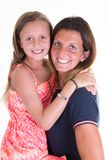 Girl in mother arms pretty woman cheerful family concept royalty free stock photo